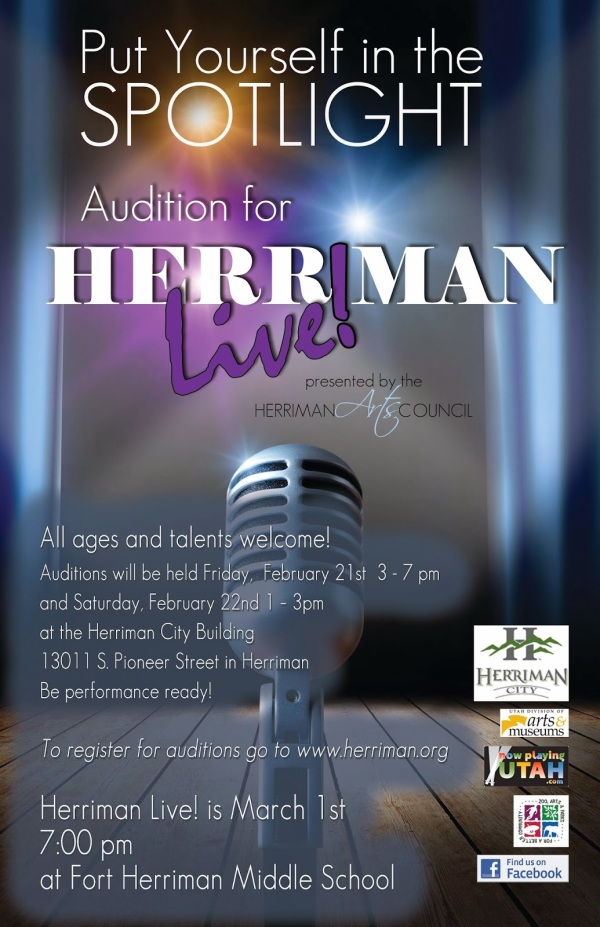 Herriman Live 2014 Audition Poster